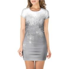 Платье с короткими рукавами Snowflakes