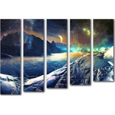 Модульная картина «Космический пейзаж» 75×50 см