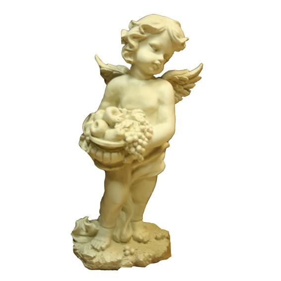 Фигура садовая «Ангел с фруктами»