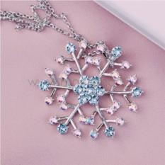 Кулон с голубыми кристаллами Сваровски «Снежный»
