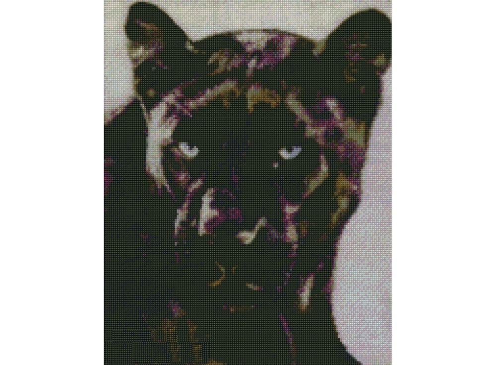 Набор для вышивки стразами «Черная пантера»