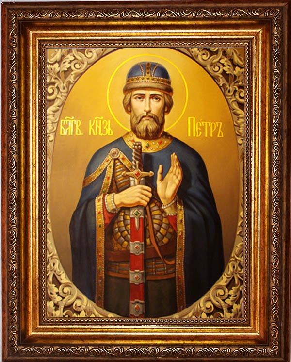 Петр Муромский Преподобный Князь. Икона на холсте.