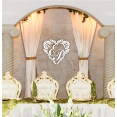 Свадебная монограмма Сердце №1