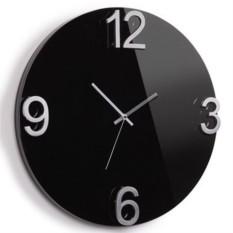Черные настенные часы Еlapse