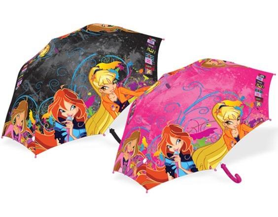 Детский зонт-трость Winx Pink&Black Rock