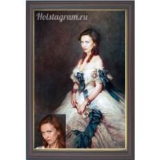 Портрет по фото на холсте для девушки