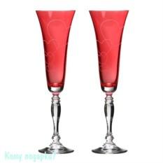 Набор бокалов для шампанского «Виктория Love»