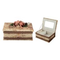Шкатулка для ювелирных украшений Цветы