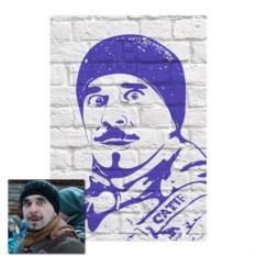 Поп-арт портрет на кирпичном фоне