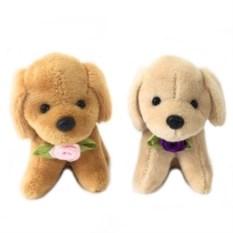 Мягкая игрушка-брелок Собачка с розочкой