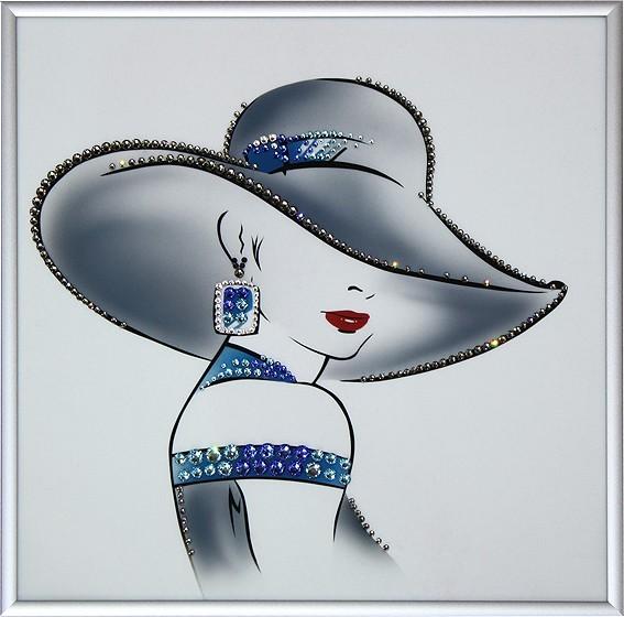 Картина с кристаллами Swarovski Мода 90-х