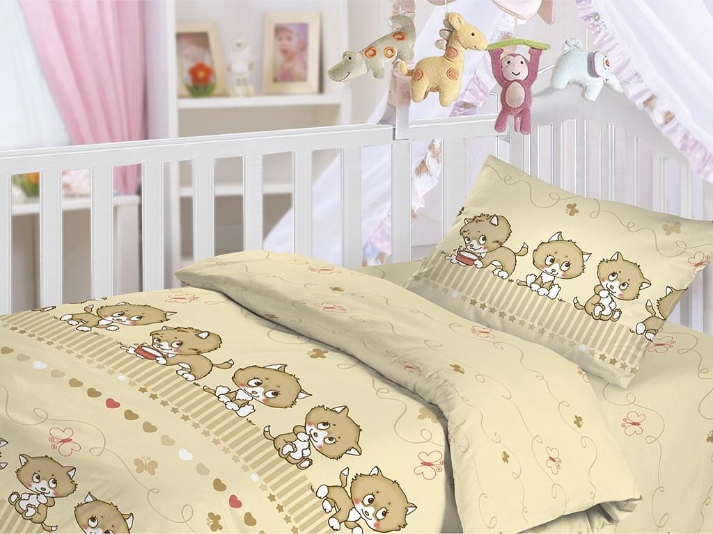 Ясельный комплект постельного белья Котята