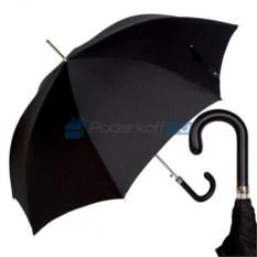 Зонт-трость Pasotti classic pelle premium black