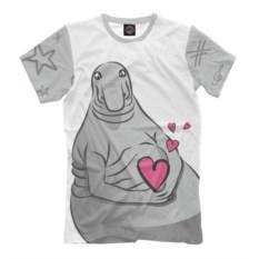 Мужская футболка Ждун любви