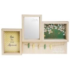 Рамка с 2-мя фото и зеркалом Дом цветочницы