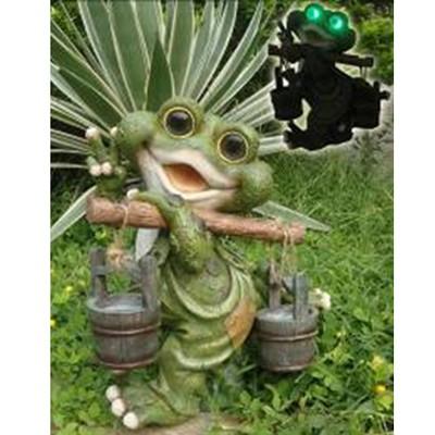 Садовая фигура «Лягушка-дачник»
