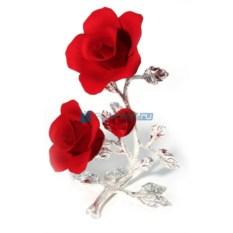 Фарфоровая композиция Красные розы с бутоном