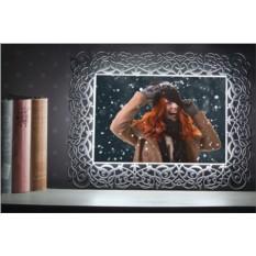 Световая фоторамка с вашей фотографией. Цвет - серебро