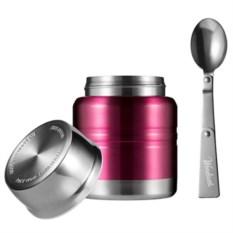Белый термос для еды Lunch spot цвета бургунди