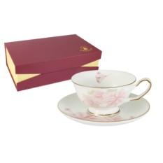 Набор из 6 чайных пар Розовые цветы Emerald