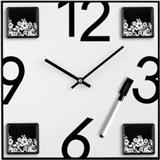 Настенные часы с 4 фоторамками и маркером для записи сообщений