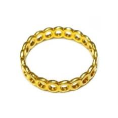 Модульное кольцо из позолоченного серебра