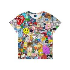 Детская футболка с 3D принтом Стикербомбинг