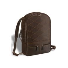 Коричневый кожаный рюкзак-трансформер Brialdi Joker