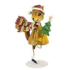 Новогодняя фигурка Белка с елочкой