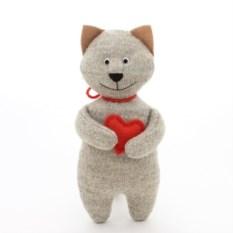 Мягкая игрушка Кот с сердечком