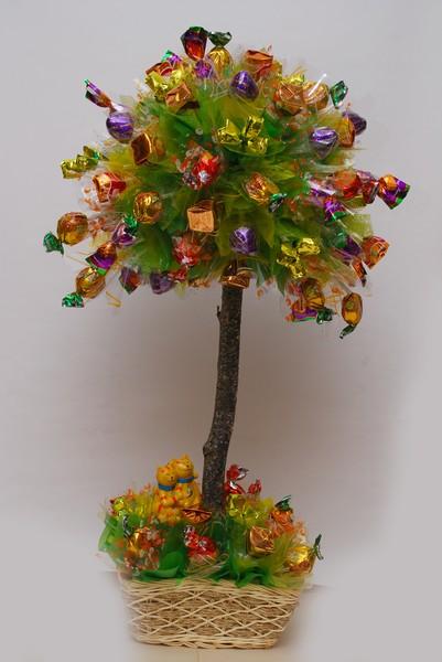 Букет из конфет Дерево счастья