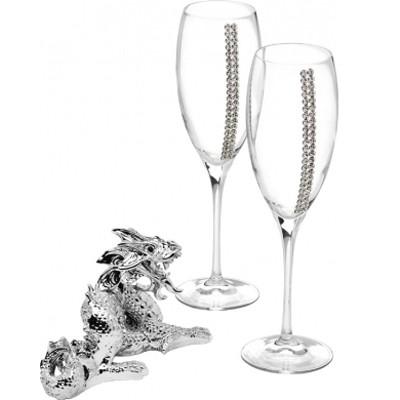 Набор для шампанского «Дракон в серебре»