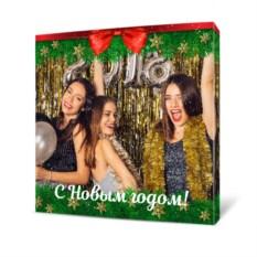 Холст с вашим фото «С Новым годом»