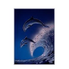 Хрустальная картина «Дельфины»