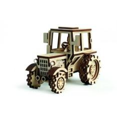 Подвижный деревянный 3D конструктор Lemmo Трактор