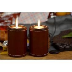 Комплект из двух коричневых подсвечников Elole Design