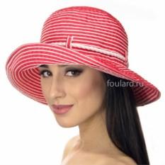 Пляжная красная шляпа в полоску от Del Mare