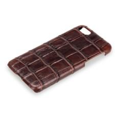Коричневый чехол из крокодиловой кожи на Iphone 7/8