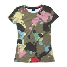Женская 3D-футболка Камуфляж