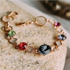 Браслет «Юнона» с разноцветными кристаллами Swarovski