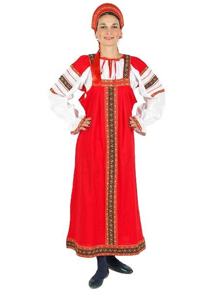 Русский народный костюм из сарафана и блузки Забава