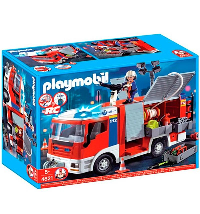 Playmobil Пожарная машина со шлангом и съемной крышей