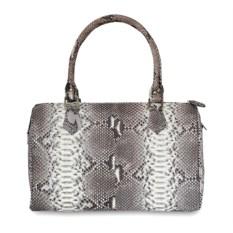 Женская сумка из кожи живота питона натурального цвета