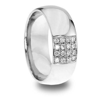 Мужское кольцо с бриллиантами Fortune