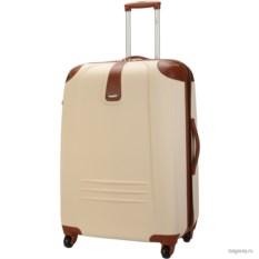 Бежевый чемодан Dielle Carraro