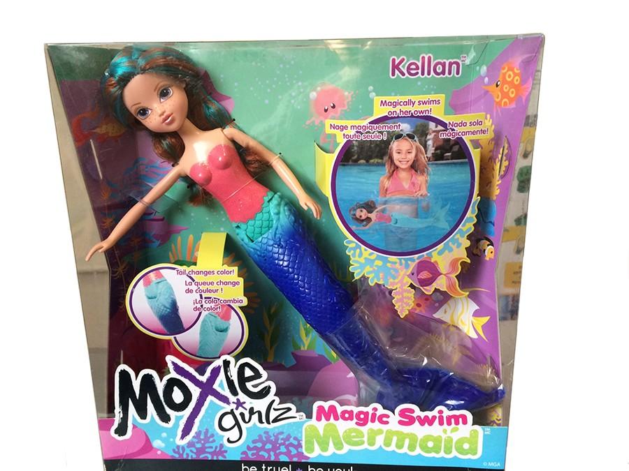 Кукла-русалка Келлан Moxie Girlz с синим хвостом