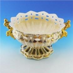 Керамическая ваза для фруктов Ажур