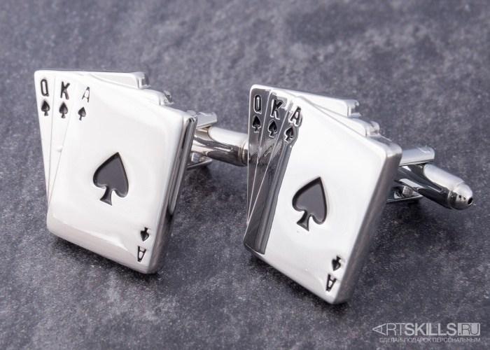 Запонки «Покер»