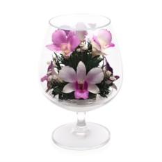 Цветочная композиция из орхидей