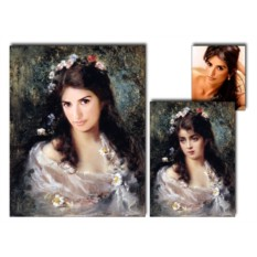 Величественный портрет по фото на холсте